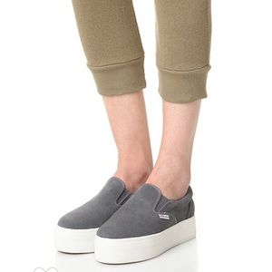 Superga 2314 Suede Gray Slip-On Sneakers Size 8.5